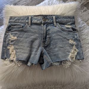 NWOT Express lace detail distressed shorts 4